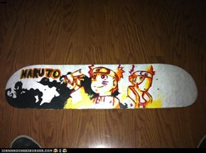 Hand painted Naruto skateboard