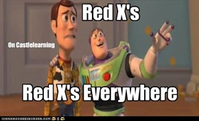 Red X's