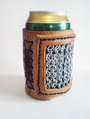 The Chainmail Beer Cozy