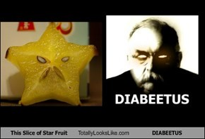 This Slice of Star Fruit Totally Looks Like DIABEETUS