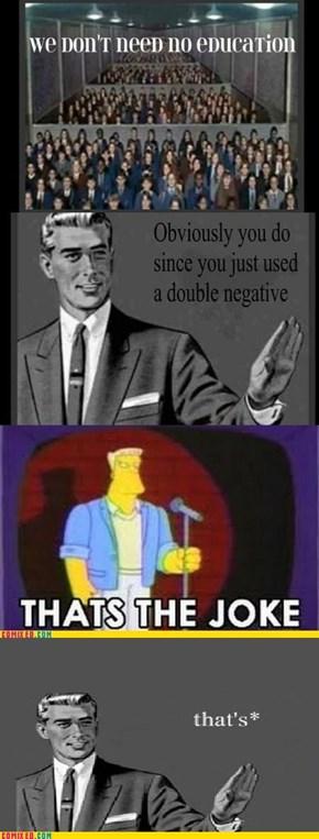 """Grammar guy does not """"joke"""""""