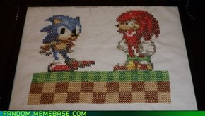 Sonic and Knuckles fan-stitch