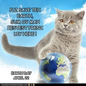 PLZ SAVE TEH EARTH,  SUM OV MAH BESTEST FRENZ LIV HERE !