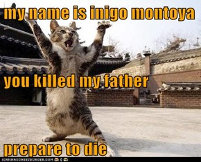 my name is inigo montoya you killed my father prepare to die