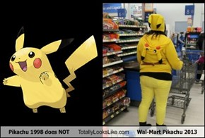 Pikachu 1998 does NOT Totally Looks Like Wal-Mart Pikachu 2013