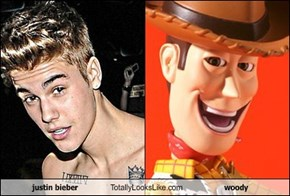 justin bieber Totally Looks Like woody