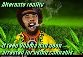 Alternate reality   If teen Obama had been arrested for using cannabis