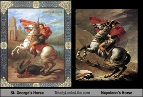St. George's Horse Totally Looks Like Napoleon's Horse