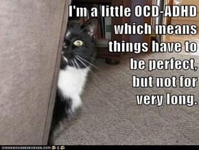 I'm a little OCD-ADHD