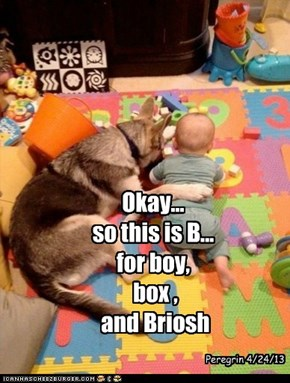 Okay... so this is B... for boy,  box ,  and Briosh