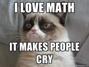 Even Grumpy Cat Likes Math