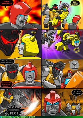 Grimlock vs. technology