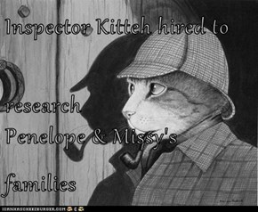 Inspector Kitteh hired to research Penelope & Missy's families