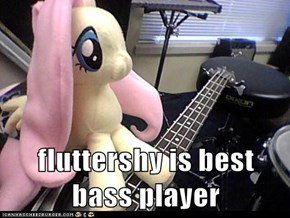fluttershy is best bass player