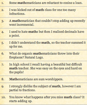 Some Classic Math Puns