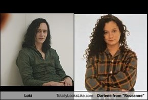 "Loki totally looks like Darlene from ""Roseanne"""