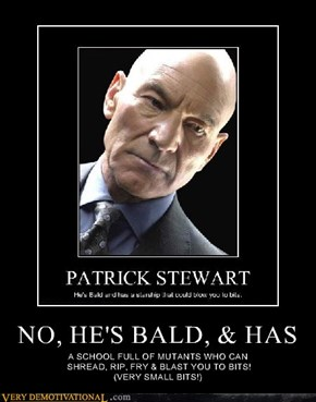 NO, HE'S BALD, & HAS