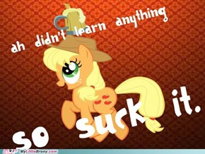 Applejack is Better Than Celestia