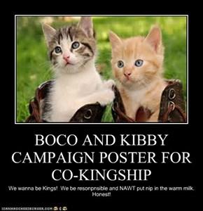 BOCO AND KIBBY CAMPAIGN POSTER FOR CO-KINGSHIP