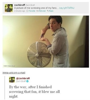 Zach Braff Screwing Around...