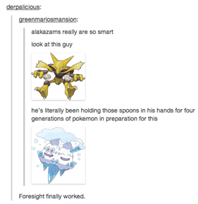 Proof of Alakazam's Foresight