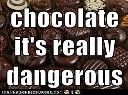 chocolate  it's really dangerous