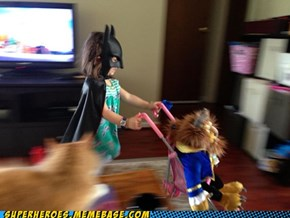 Batgirl Walks the Beast