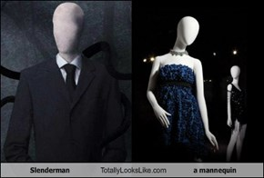 Slenderman Totally Looks Like a mannequin