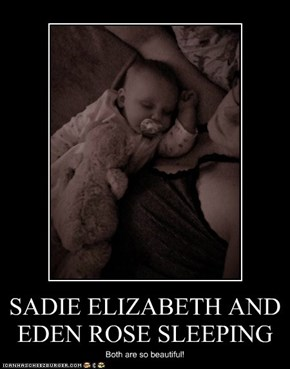 SADIE ELIZABETH AND EDEN ROSE SLEEPING
