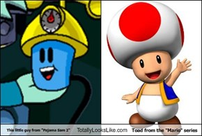 "This little guy from ""Pajama Sam 2"" Totally Looks Like Toad from the ""Mario"" series"