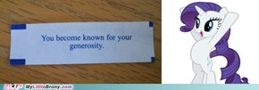 Rarity's Fortune Cookie!