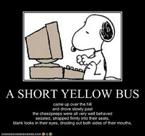 A SHORT YELLOW BUS