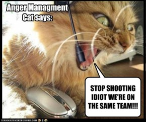 Anger Managment Cat says: