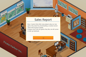 Touche of the Day: Game Dev Tycoon School Pirates with a Clever In-Game Event