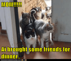 MOM!!!!!  Ai brought some friends for dinner..