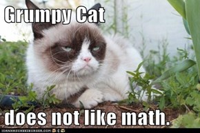 Grumpy Cat  does not like math.