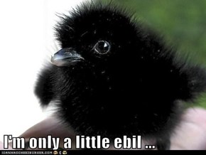 I'm only a little ebil ...