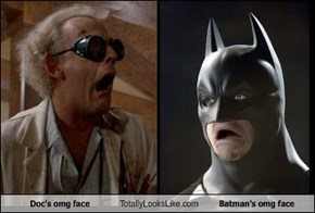 Doc's omg face Totally Looks Like Batman's omg face