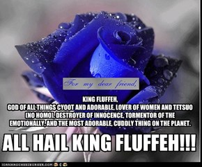 KING FLUFFEH, GOD OF ALL THINGS CYOOT AND ADORABLE, LOVER OF WOMEN AND TETSUO (NO HOMO), DESTROYER OF INNOCENCE, TORMENTOR OF THE EMOTIONALLY, AND THE MOST ADORABLE, CUDDLY THING ON THE PLANET.