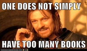 ONE DOES NOT SIMPLY  HAVE TOO MANY BOOKS