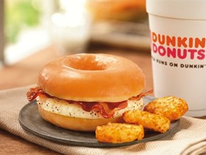Dunkin' Donuts Creates a Glazed Breakfast Sandwich, Your Mornings Are in Danger