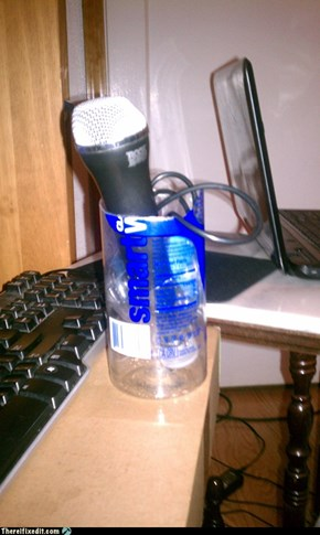 Ghetto Microphone Stand