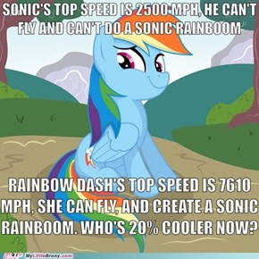 Rainbow Dash is Faster than Sonic