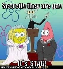 Secretly they are gay  It´s  STAG!