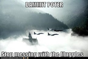DAMMIT POTER  Stop messing with the Muggles