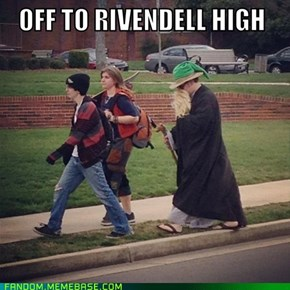 Behold, the campus hobo wizard!