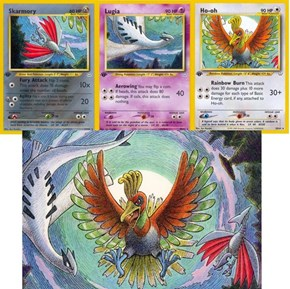The Pictures Shown on the Card for Skarmory, Lugia, and Ho-oh All Belong to the Same Image