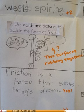 Pole dancing physics as explained by an eight year old.