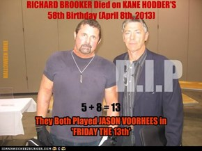 Brooker with Hodder - FRIDAY THE 13th.