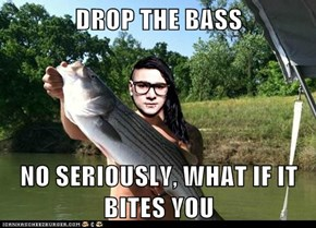 DROP THE BASS  NO SERIOUSLY, WHAT IF IT BITES YOU